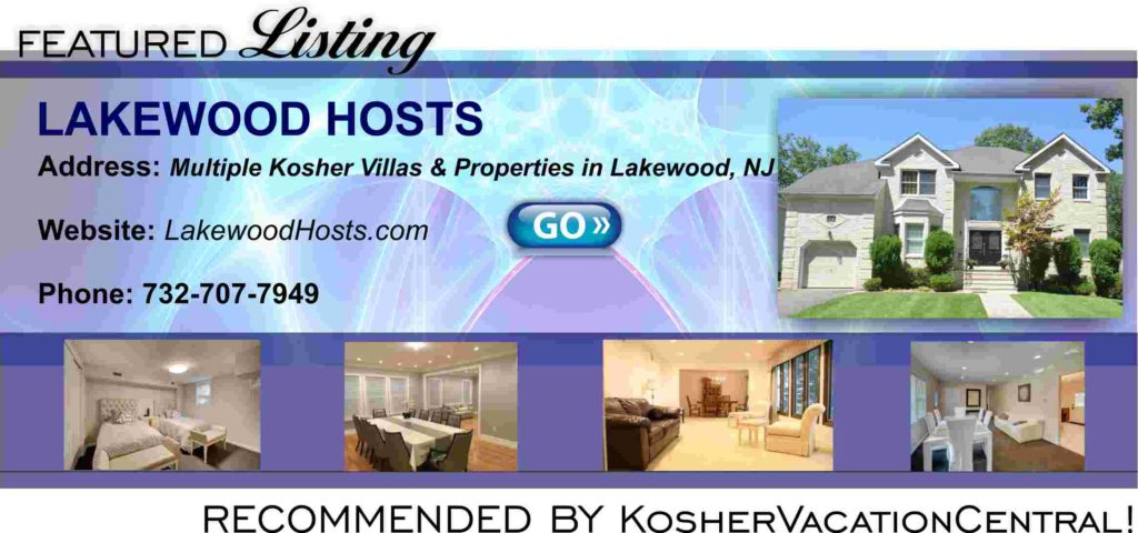 New York  Got it  Here's a List of Kosher Hotels