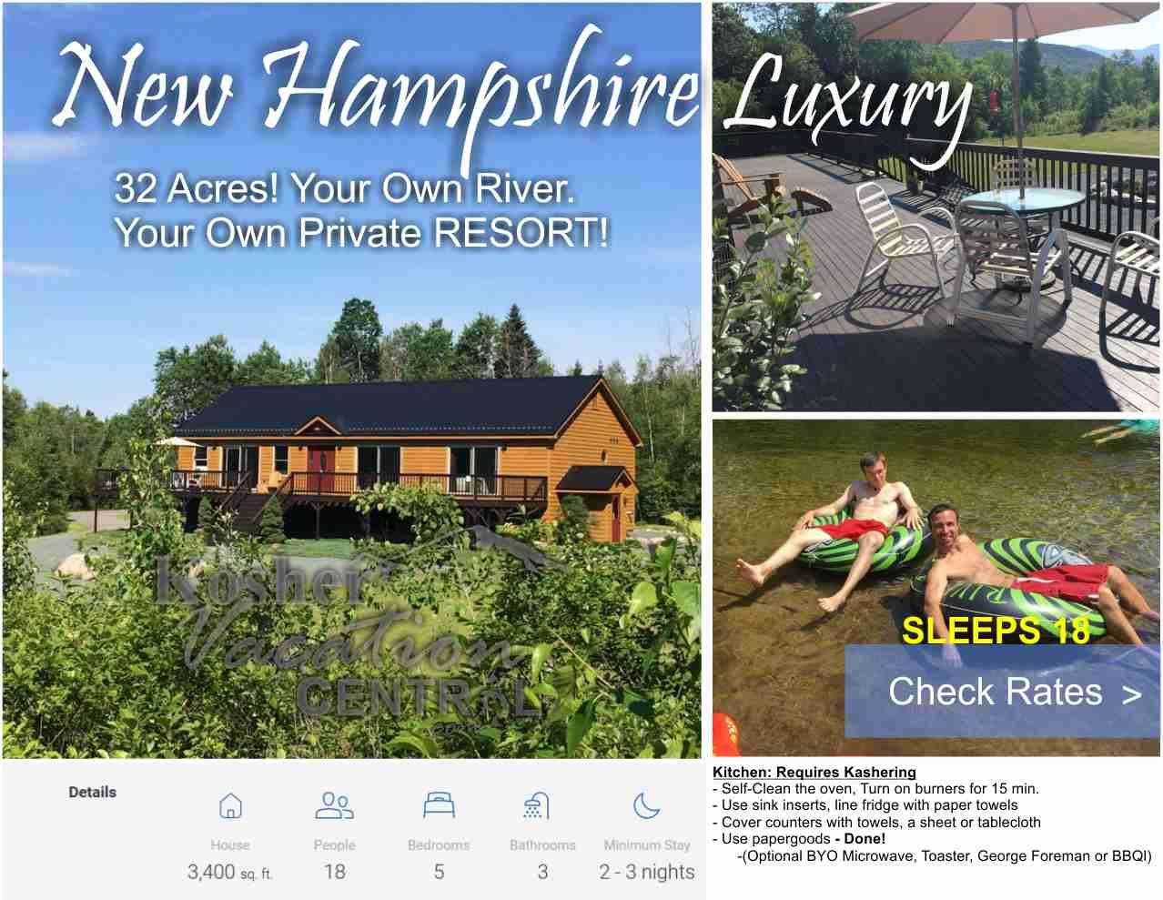 Log Home Rental New Hampshire